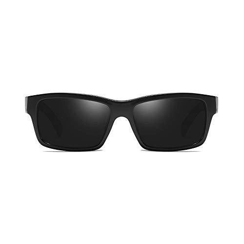 Ultraleichte UV400 UV Reflective Light Sport-Sonnenbrille Angeln Baseball Tennis Tennis Skifahren Laufen Golf Polarized Lens Sport-Sonnenbrille für Herren Brille (Color : Schwarz, Size : Kostenlos)