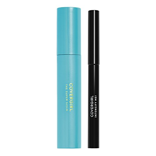 CoverGirl Super Sizer Mascara Very Black and Intensify Me! Eye Liner Intense Black Special Pack, 0.448 Ounce by CoverGirl