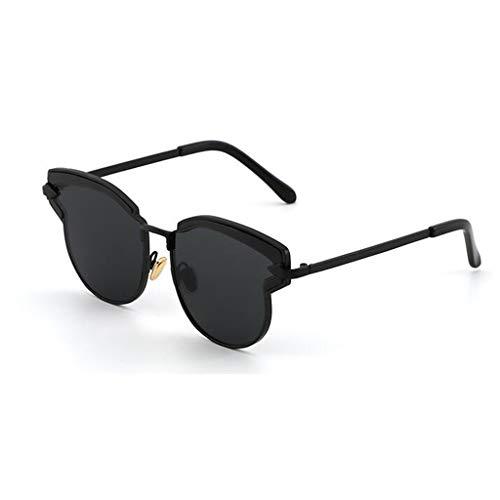 YIWU Brillen Europäische und amerikanische Stars Persönlichkeit Sonnenbrillen 2019 Neue Damen Gezeiten Sonnenbrillen Sommerreise Brillen & Zubehör (Color : Black)