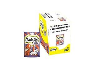 Catisfactions MIX - Friandises au Poulet et au Canard pour Chat, 6 Sachets de 60g