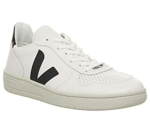 Veja - Basket V10 Leather Couleur - EXTRA WHITE BLACK, Taille - 45