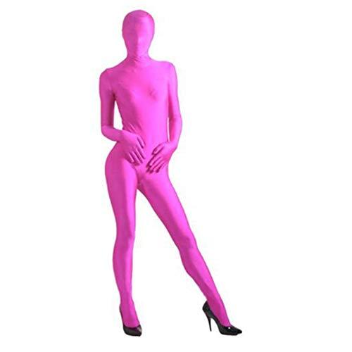 Likecrazy Unisex Body Jumpsuit Weich bequem Overall Slim Stretch Weich bequem für Männer Frauen Kostüm Halloween Karneval Kostüm Trainingsanzug (Rosa)