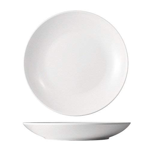 cartaffini – 6 assiettes creuses Coupe légers en mélamine, ø 20,3 cm, Couleur : Blanc