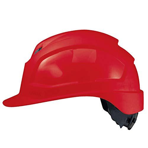 Uvex Pheos IES - Casco da lavoro ventilato, colore blu, Rosso
