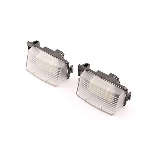 Preisvergleich Produktbild GZLMMY 2 Stücke 12 V Weiß Auto LED Kennzeichenbeleuchtung Ersatz Nummernschild Lampe Für 350Z 370Z GTR G25 G35 G37