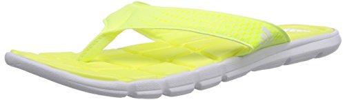 adidas Originals Adipure 360 Thong, Ciabatte da spiaggia/piscina Unisex - adulto, Giallo (Gelb (White/Light Flash Yellow S15/Semi Solar Yellow)), 43 1/3