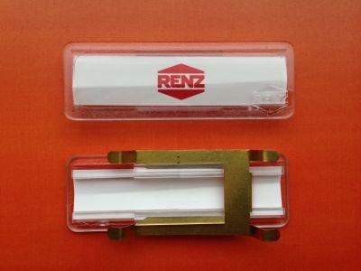 Preisvergleich Produktbild RENZ Namensschild mit Feder 65x22mm RENZ Nummer 97-9-00302