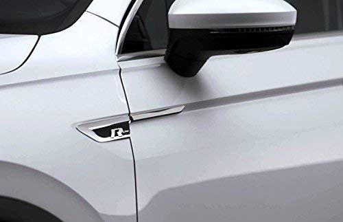 Suwtec Original VW R Logo R-Line MQB 2016 Emblem Schriftzug Kotflügel Aufkleber Links und Rechts Set 5NA853688B DPJ