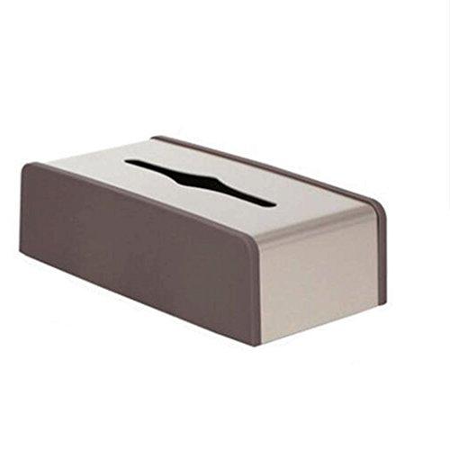 ZHAOJING Boîte rectangulaire de papier d'alliage d'aluminium de boîte de serviette de salon de maison de salle de bains de chambre à coucher