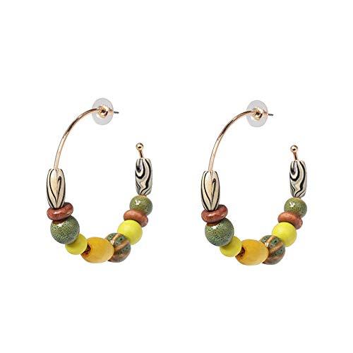 Legieren Sie weibliche wilde Ohrringe der Farbhölzernen geometrischen Ohrringe, hypoallergene nickelfreie Hochzeitsfestschmucksachenschmucksachen, romantische Feriengeschenke