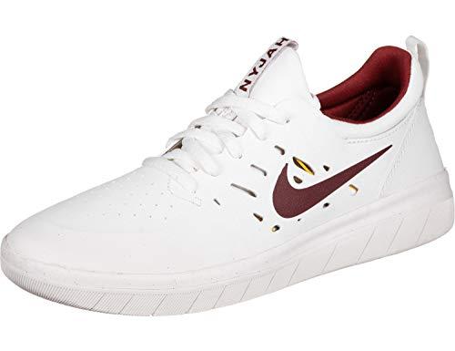 online store eed92 6e38a Nike Unisex-Erwachsene Sb Nyjah Free Fitnessschuhe, Mehrfarbig (Summit  White/Team Crimson