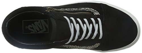 Vans Donna Oro/Blanc De Blanc Old Skool Zip Sneakers BLACK|METALLIC