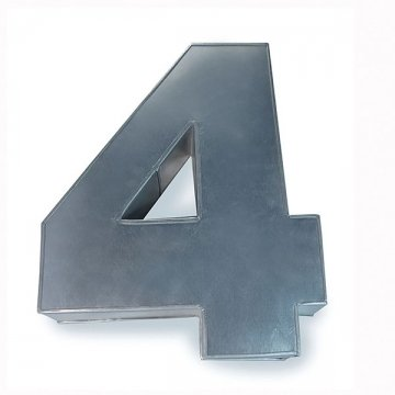 EUROTINS Gro? Zahlen-Backform Vier (4) f?r Geburtstag, Jubil?um (Gr??e 36 x 25 cm ? 7,5 cm tief)