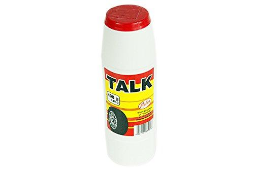 1 Stück Talk 400 g für Schlauchreifen / Talkum / Tire Talc / Reifenreperatur / Reifenschlauch / Reifen / Talk / 400 g / Malwa / Asbestfrei / Feinkörnig / Reperaturen / Talkum Puder / Gummipflege / Füllmaterial / Reifenpflege / Pulver / Montage / Demontage / Werkstatt / Pflege / Vulkanisierung / PKW / LKW / Schlauchschutz