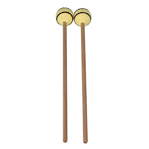 ZANTEC 1 Paio Accessori Portatili Professionali Bacchette Battenti Legno e Nylon Testa Morbida per Marimba