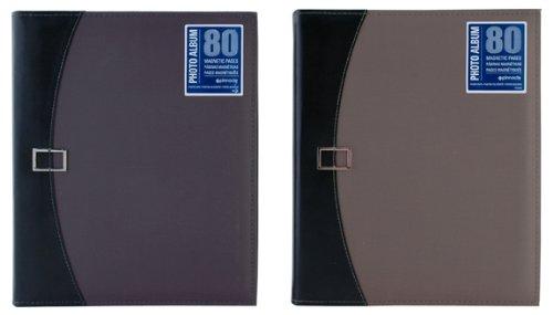 Pinnacle 80Magnetische Seite Foto Album mit Schnalle Schließung, grün oder blau - Seite Schnalle Schließung