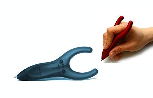PenAgain Ergosof - Kugelschreiber mit ergonomisch rutschfestem Soft-Oberfläche-Griff (schwarz (gummiert)) (Karpaltunnel-stift)