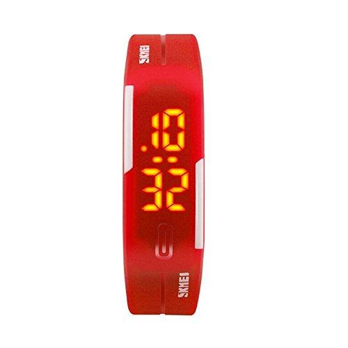TTLIFE 1099 Unisex Men Women Sport Watches LED Digital Outdoor Wrist Watch Water Resistant Red