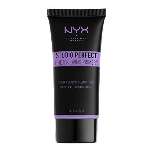 NYX Professional Makeup Base de teint Studio Perfect, Teint Uniformisé, Action Ciblée Pores et Ridules, Teinte : Lavender