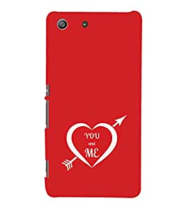 EPICCASE you and me Mobile Back Case Cover For Sony Xperia M5 (Designer Case)