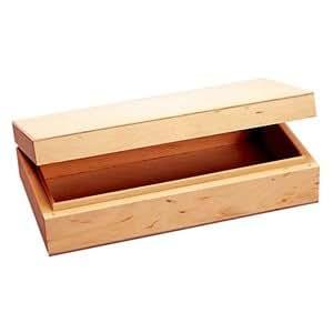 Boîte rectangulaire en bois à décorer L22xl12xh5,5 cm