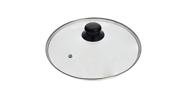 Smartfox Glasdeckel mit Edelstahlrand Edelstahlring und Entl/üftungsloch Topfdeckel Pfannendeckel /Ø 16cm