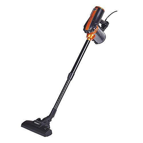 Techwood TAS-655 Aspirateur balai 2 en 1, 600 W, 0.5 liters, Noir/Orange