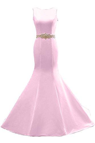 Toscana sposa di gran qualità Mermaid pietre Rueckenfrei Prom abito Fiesta Abito per Abito da sera Rosa