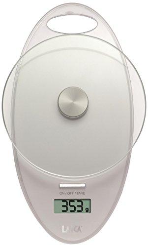 Laica ks1005 bilancia da cucina elettronica, piatto in vetro temperato, 3 kg, colore bianco