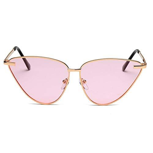 YUHANGH Metall Frauen Cat Eye Sonnenbrille Dreieck Persönlichkeit Weibliche Sonnenbrille Uv Schutz Sommer Brillen