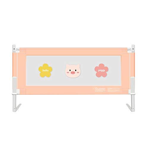 Zx- barriera letto pieghevole, recinzione del letto per bambini con sollevamento verticale, ringhiera infrangibile per bambini, lettino bambini e neonati (colore : pink-150cm)