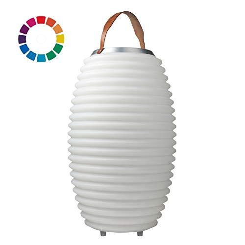 The.Lampion Color 65 - Bluetooth Lautsprecher/Speaker, Sektkühler/Getränkekühler und Multicolor LED Design Lampe