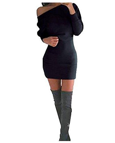 Hqclothingbox -  Vestito  - Casual - Donna Black