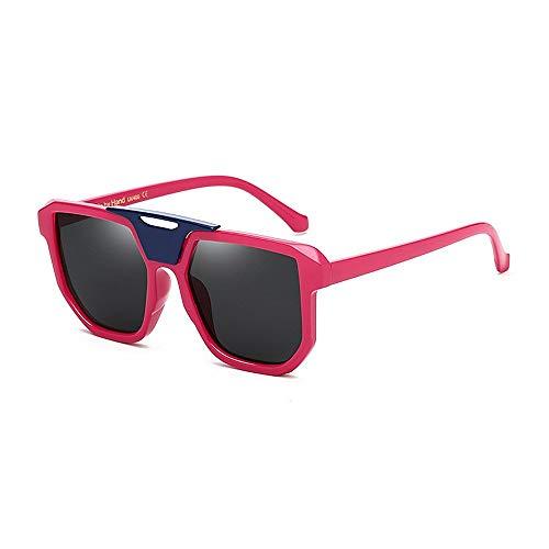 XHCP Frauen Klassische Sonnenbrille Unisex Sport Sonnenbrille Fahren Sonnenbrille Unbreakable PC Objektiv Uv-Schutz Sonnenbrille Für Fahren Reisen Baseball Laufen Radfahren Angeln Golf (Farbe: Ro