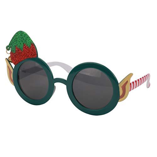 BESTOYARD Weihnachten Brille Sonnenbrille Spaßbrille Partybrille Weihnachtsdeko Fotorequisiten Geschenk für Kinder Erwachsene Elf Kostüm
