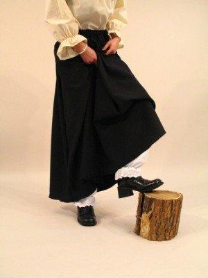 KULTFAKTOR GmbH Halloween-Kostüm - Langer Hexenrock - schwarz