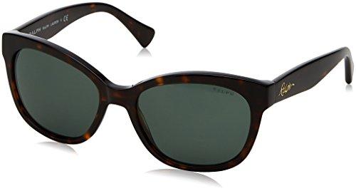 Ralph Lauren Ralph by Damen 0RA5218 137871 55 Sonnenbrille, Dark Tortoise/Green Solid,