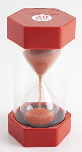 TickiT 92028Große Sanduhr, 30Sekunden, 70 mm Durchmesser, rot (30-sekunden-sanduhr Timer)