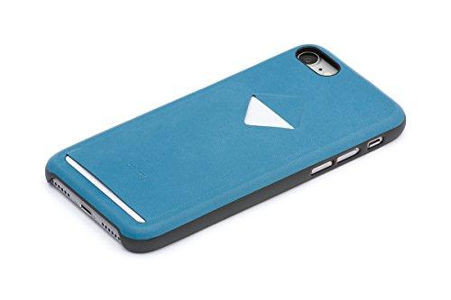 Bellroy iPhone 8 / 7 Phone Case - 1 Card aus Leder, Farbe: Arctic Blue Arctic Blue