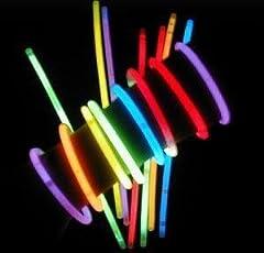 Idea Regalo - Braccialetti Fluorescenti Starlight Glowstick Disco, 100 Pezzi