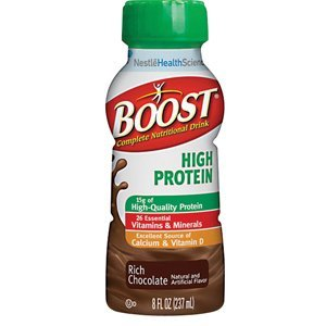 Boost High Protein Nutritional Energy Drink, 8oz., Rich Chocolate [Box of 24] by Nestle Healthcare Nutrition Inc