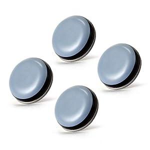AIEVE 4 Stück Gleitbrett Gleiter Selbstklebend Unsichtbares Rollbrett für Thermomix TM5 TM6 Küchenmaschine(Durchmesser 20mm)