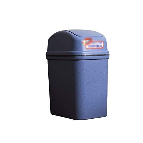 WJDOZ Mini basurero de Escritorio con Tapa de balancines y Oficina con Tapa for Dormitorio, Sala de Estar, Cocina, Oficina (Size : 5.7l)
