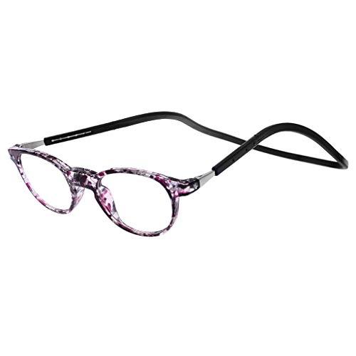 Lifet Frauen/Männer Magnetverschluss Einstellbar Lesebrille Lesehilfe Brillen Hängender Hals +1,00 bis +4,00 (+ 2,00)