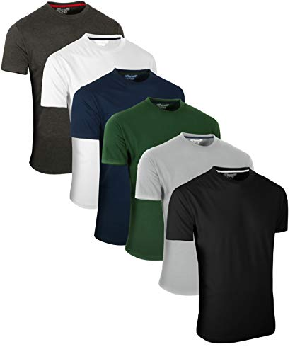 Full Time Sports 6 Pack Sortiert Rundhals Tech T-Shirts (1) XX-Large - Enge Passform T-shirt