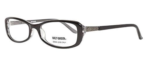 Harley Davidson Damen Brillengestelle Brille E-HDV-505-BLK, Schwarz, 52