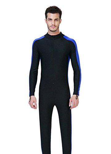 Anzug Lycra (Herren blau 4XL UV-Anzug UPF>50 Schutz swetsuit Schwimmanzug Overall)