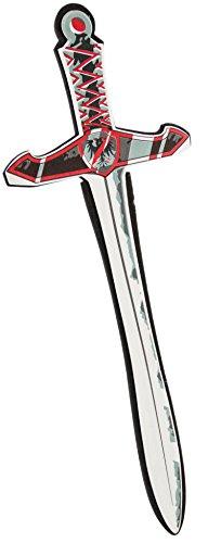 Schaum-Stoff Ritter-Schwert (53cm) Rot Kinder-Säbel-Kostüm Spielzeug-Waffe Soft-Gummi Zubehör -