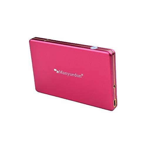 Gpan 1 TB Tragbare Externe Festplatte USB3.0 Datenspeicherung und Sicherung Geeignet für PC MAC,Pink,1TB