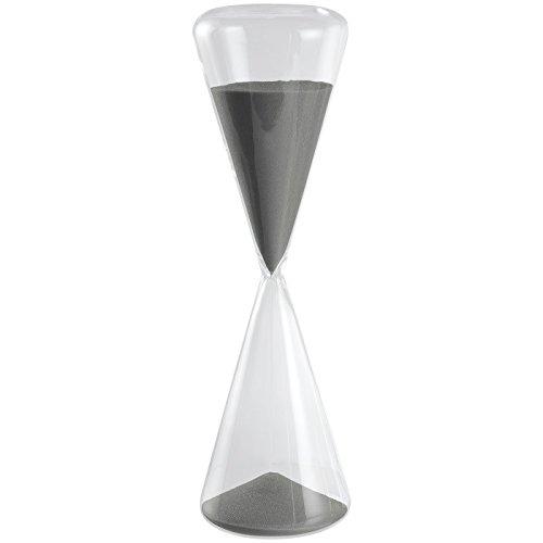 Clessidra slim in vetro design timer sabbia grigio durata 60 minuti mascagni